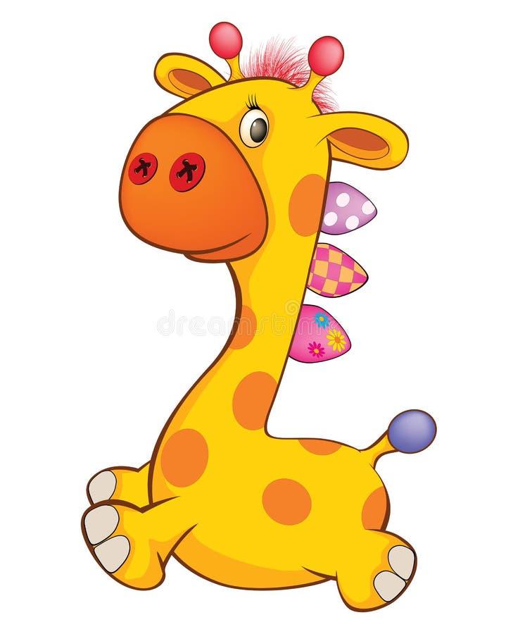 Toy Giraffe Cartoon mignon illustration de vecteur