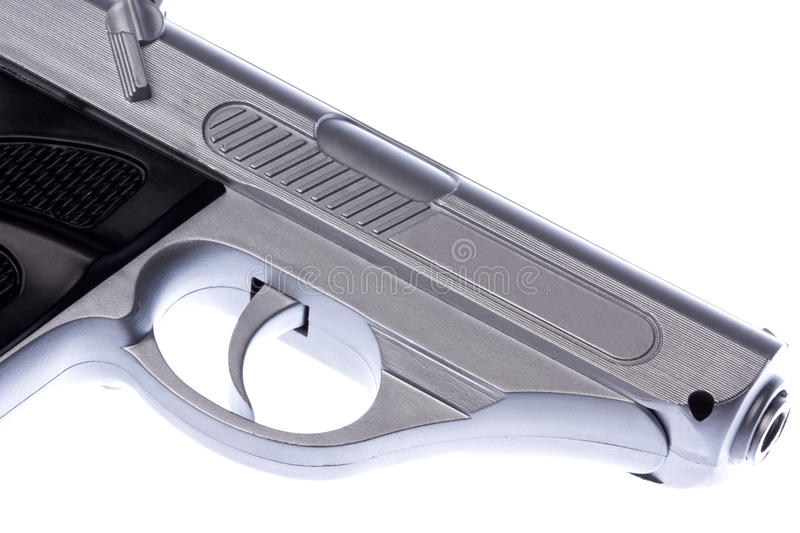 Toy Gun Isolated. Isolated image of a toy gun stock image