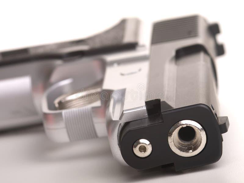 Toy gun isolated on white background.  stock photo