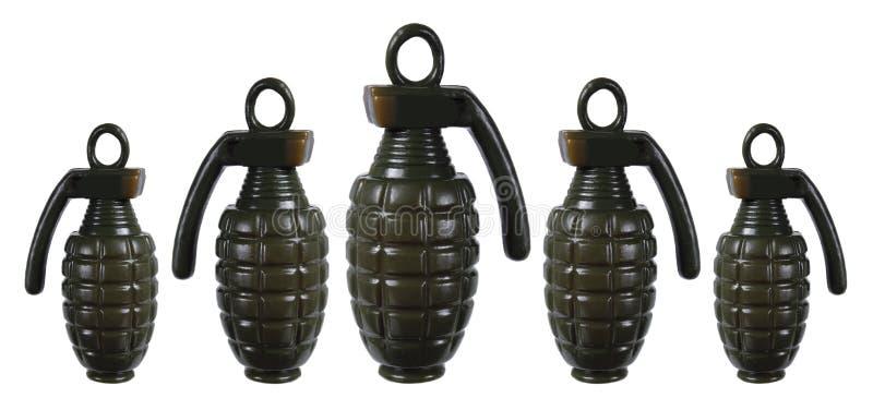Toy Hand Grenades lizenzfreie stockfotografie