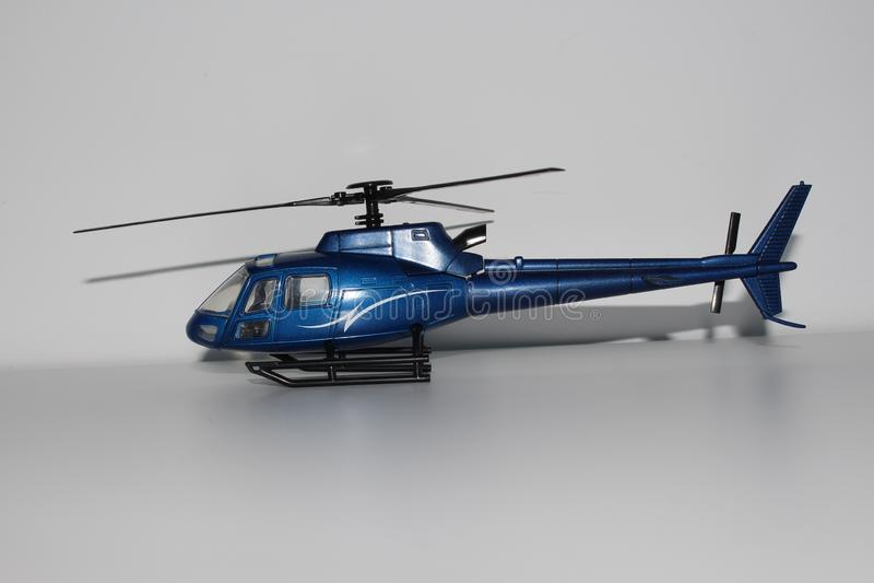 Toy Helicopter Left Side View azul imagenes de archivo