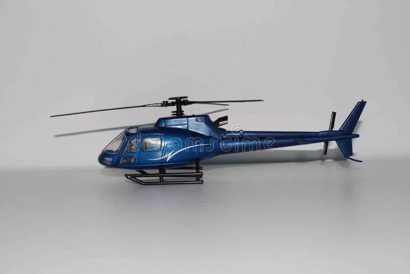 Toy Helicopter Left Side View azul imagen de archivo libre de regalías