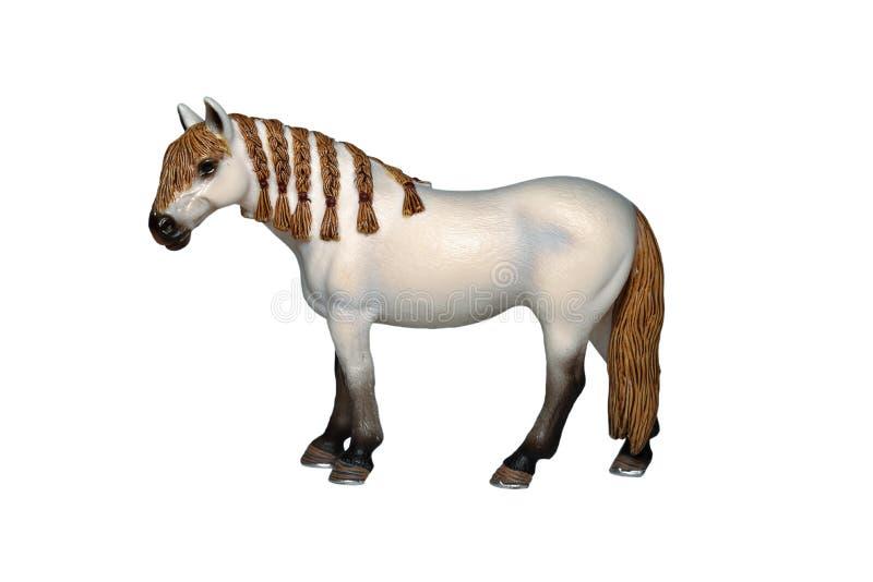 Toy horse. Isolated on white royalty free stock photos
