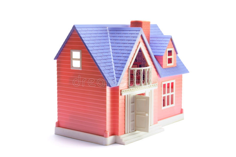 Toy House. On White Background royalty free stock photography