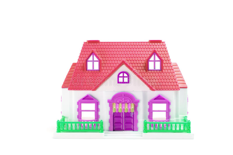 Toy House. On White Background royalty free stock images