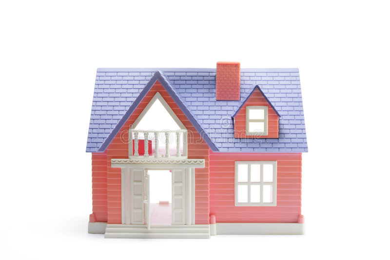 Toy House. On Isolated White Background royalty free stock image