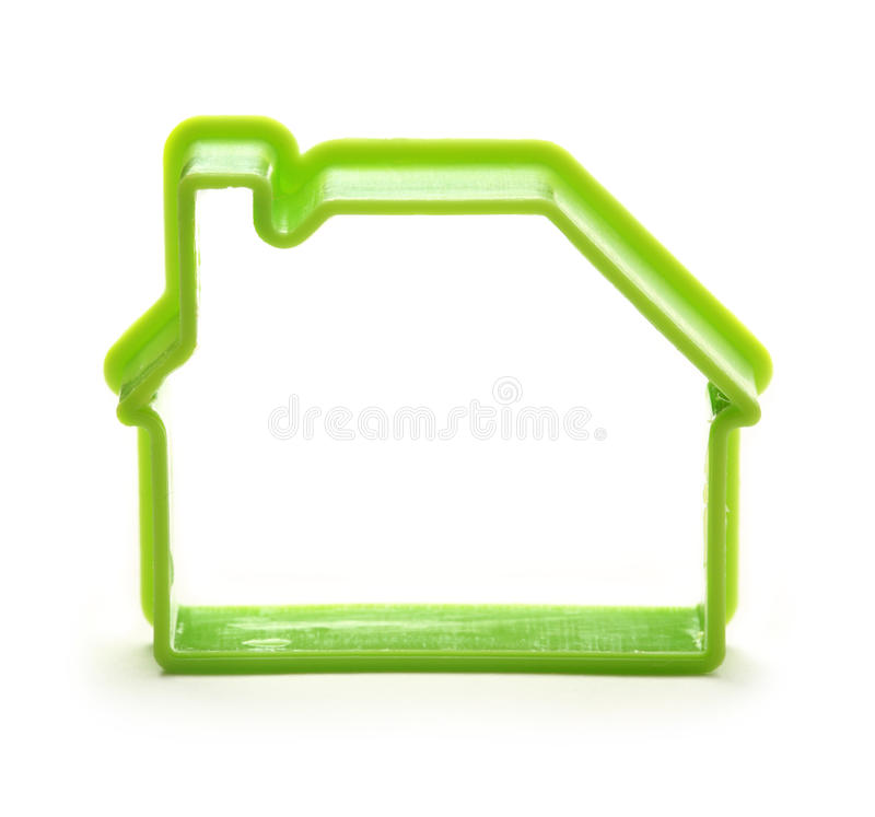 Toy house form. As symbol stock image