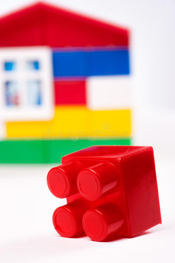 Toy house isolated on white royalty free stock photos