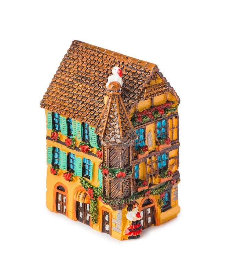 Toy house. Isolated on white background stock photo