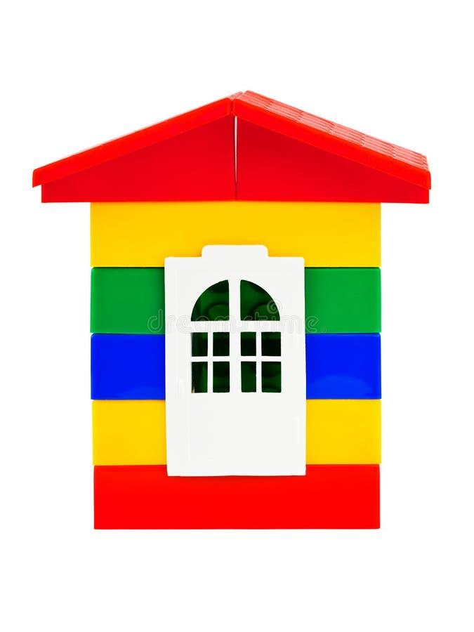 Toy house. Isolated on white background royalty free stock image