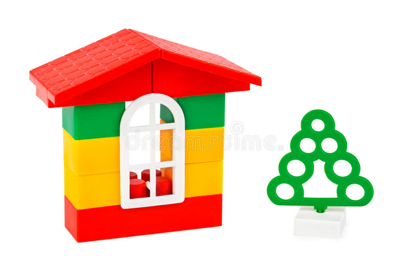 Download Toy house and tree stock photo. Image of construction - 11759194