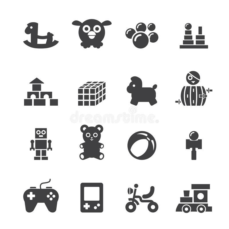 Free Toy Icon Set Royalty Free Stock Images - 46869779