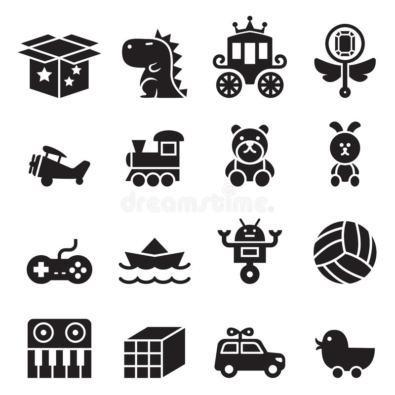 Toy icon set royalty free illustration