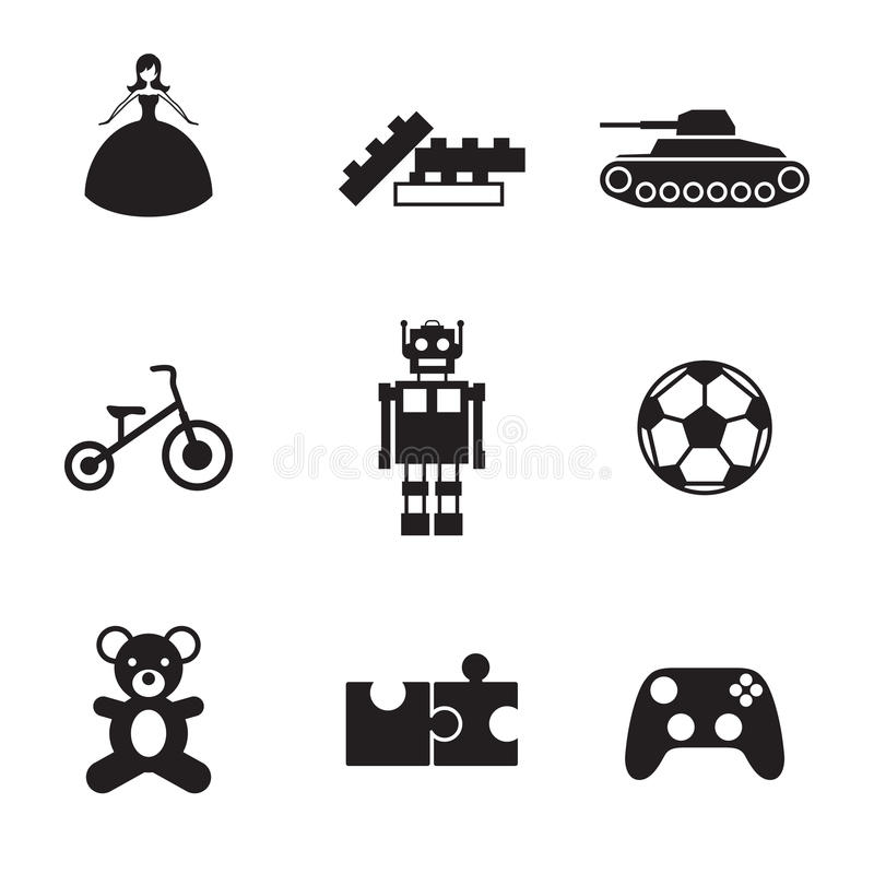 Toy Icons illustration de vecteur