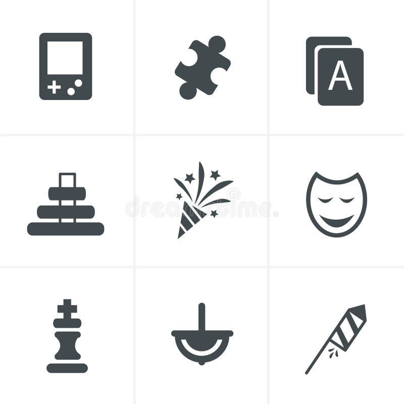 Toy icons 9 item. Icon set royalty free illustration