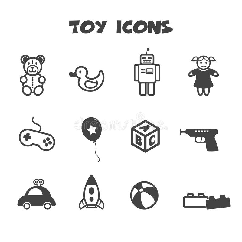 Toy icons stock illustration