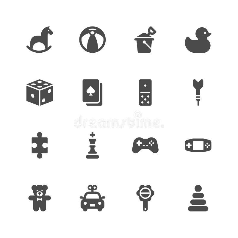 Toy icons. On white background royalty free illustration