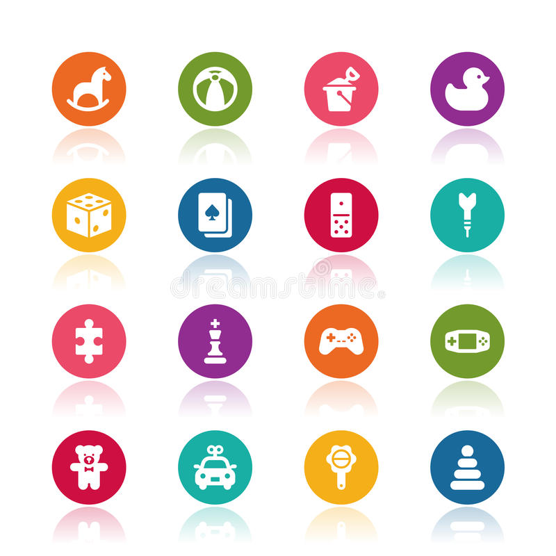 Toy icons. On white background vector illustration