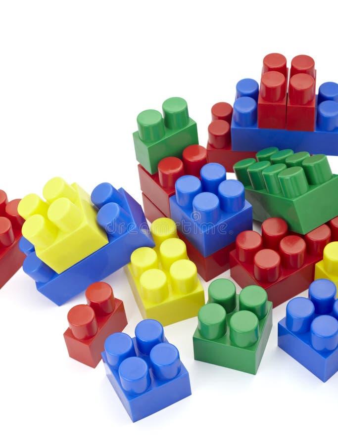 Toy lego block construction education childhood stock image