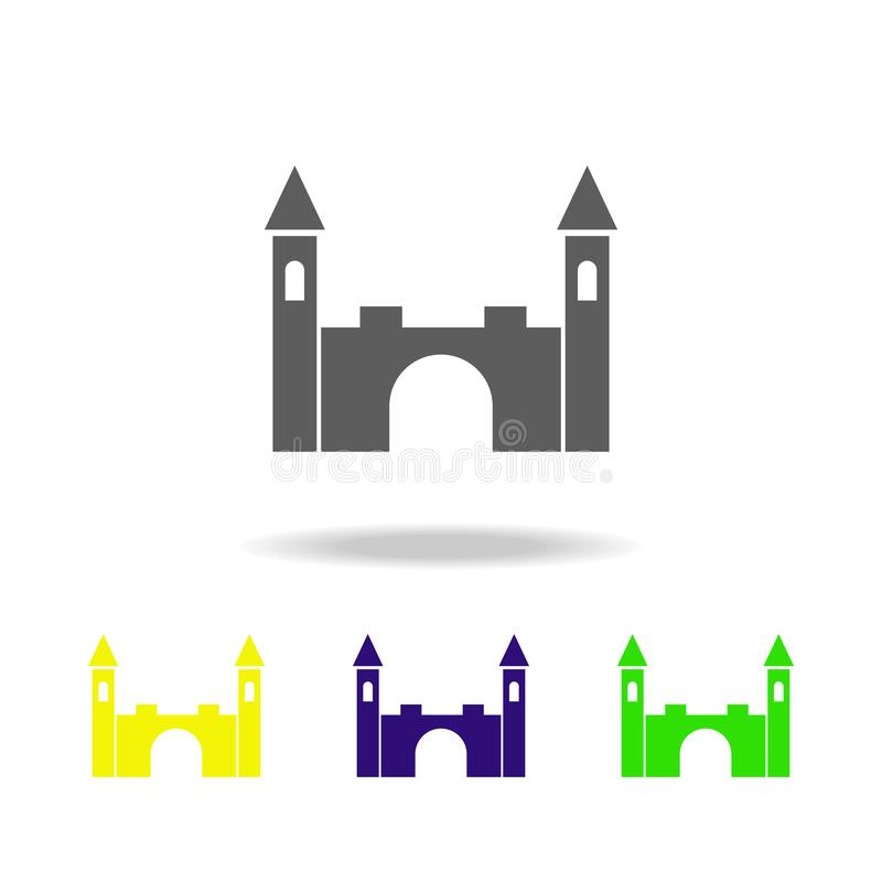 Toy lock colored icons. Element of toys. Can be used for web, logo, mobile app, UI, UX. On white background stock illustration
