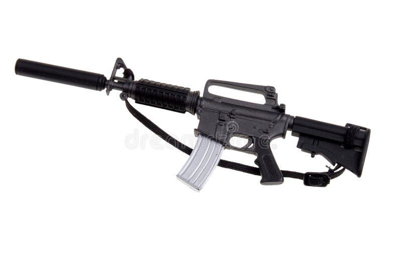Toy m-16 machine gun stock image