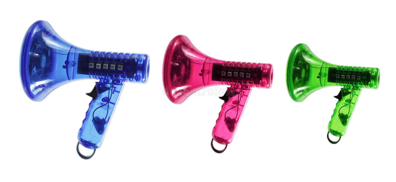 Toy Megaphones royalty free stock photos
