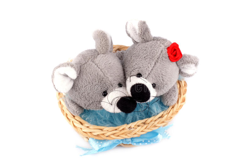 Toy mice royalty free stock image