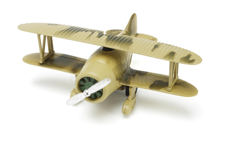 Toy military aircraft royalty free stock photo