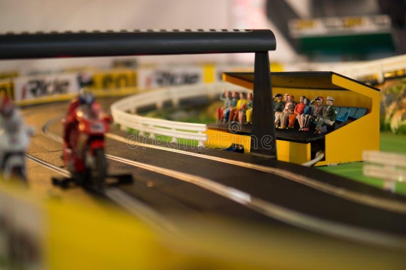 Toy motocross game stock photos