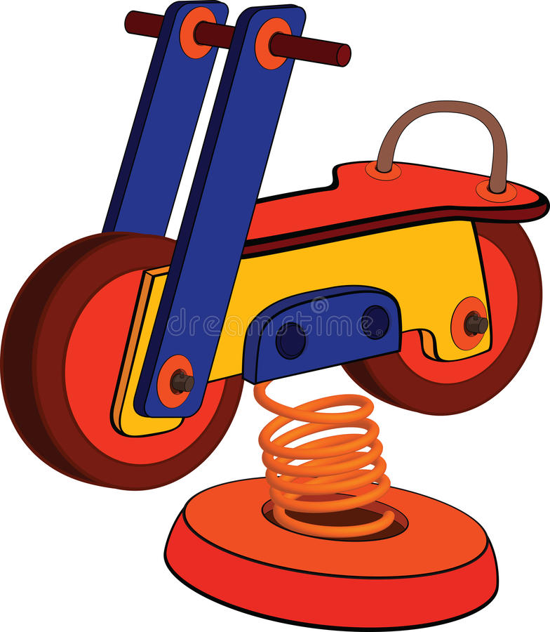 Free Toy Motorcycle. Cartoon Stock Images - 22610604