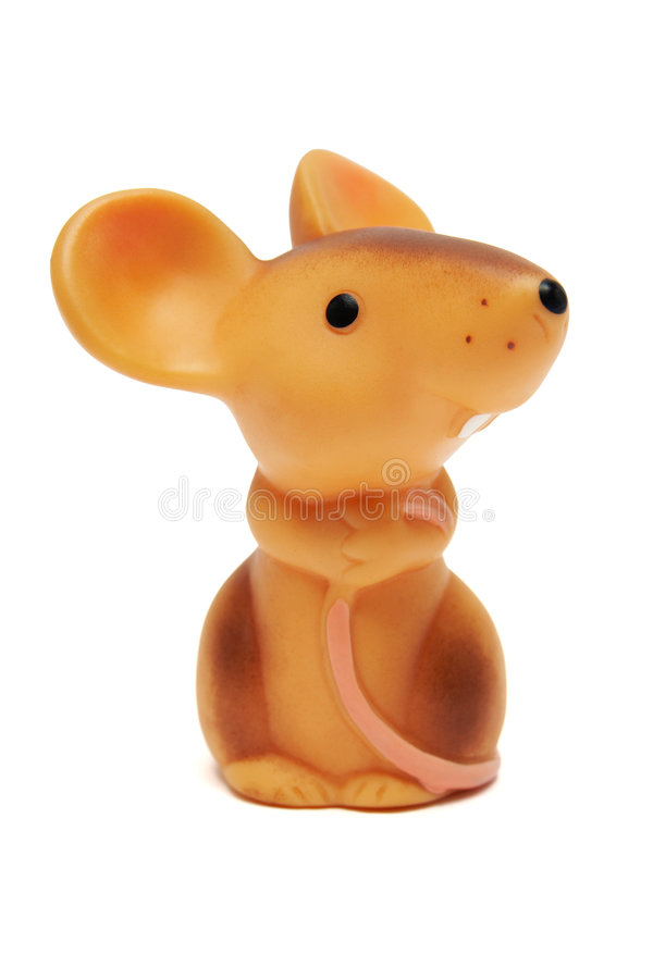 Toy mouse stock photo