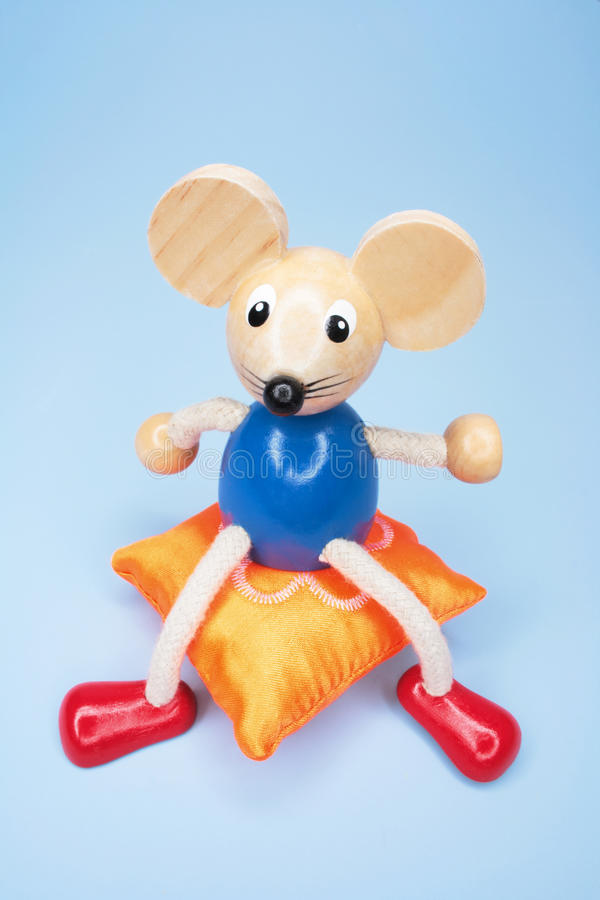 Toy Mouse on Cushion