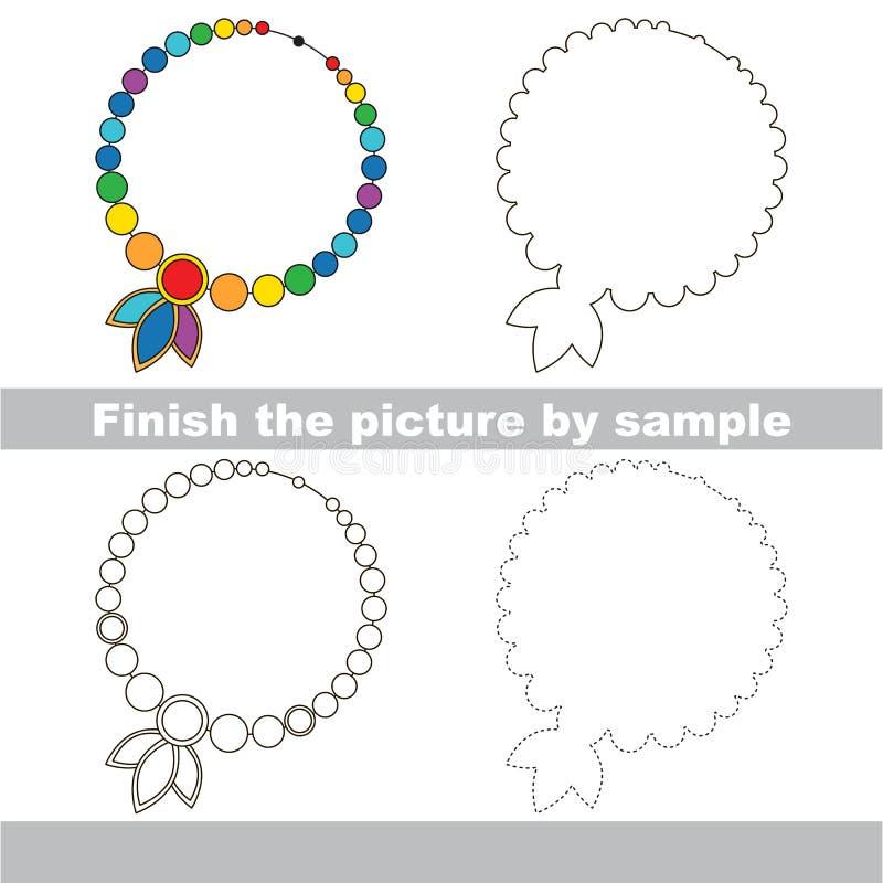 toy necklace drawing worksheet stock vector illustration of necklace tutorial 69817925. Black Bedroom Furniture Sets. Home Design Ideas