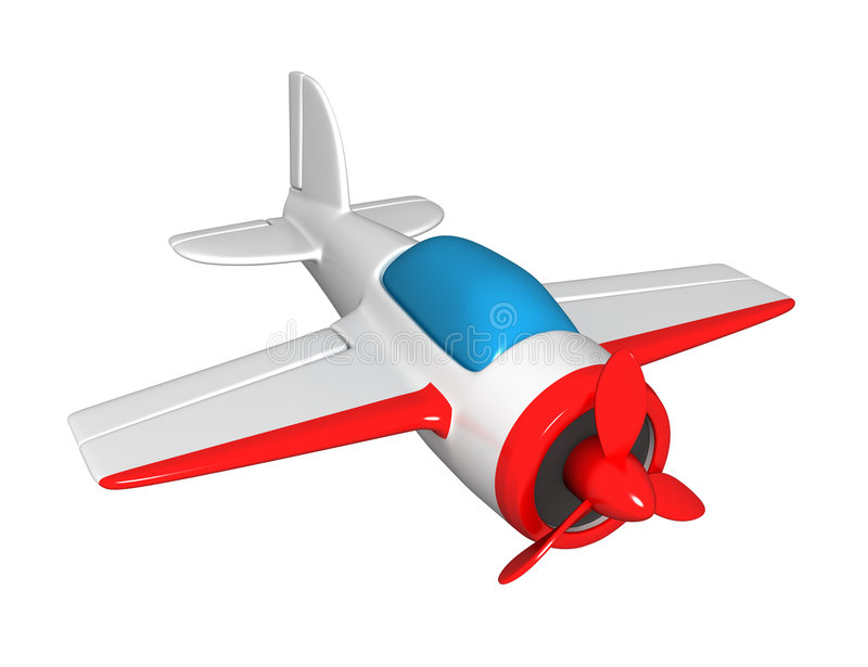 The toy plane stock illustration