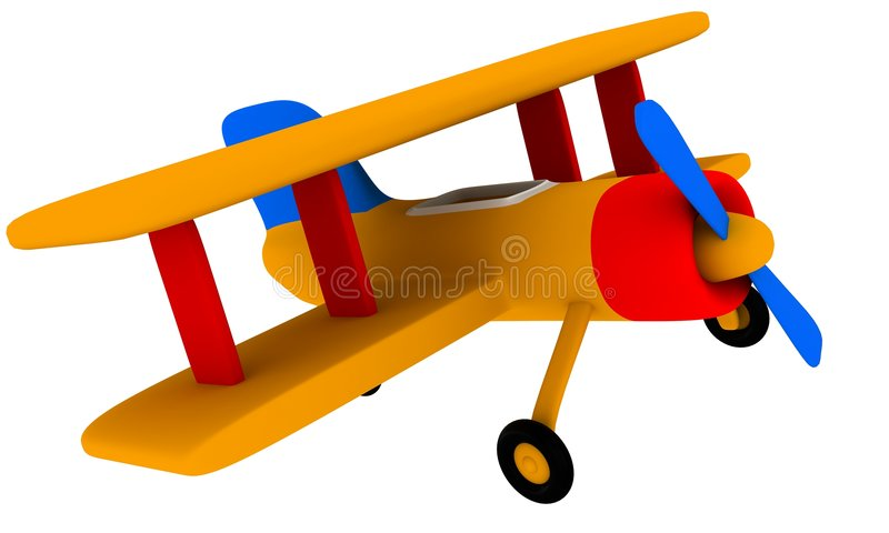 Toy plane stock illustration