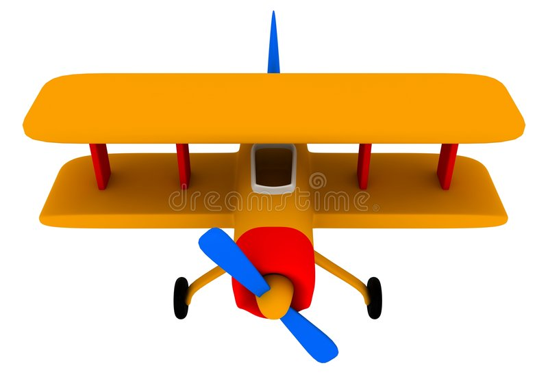 Toy plane vector illustration