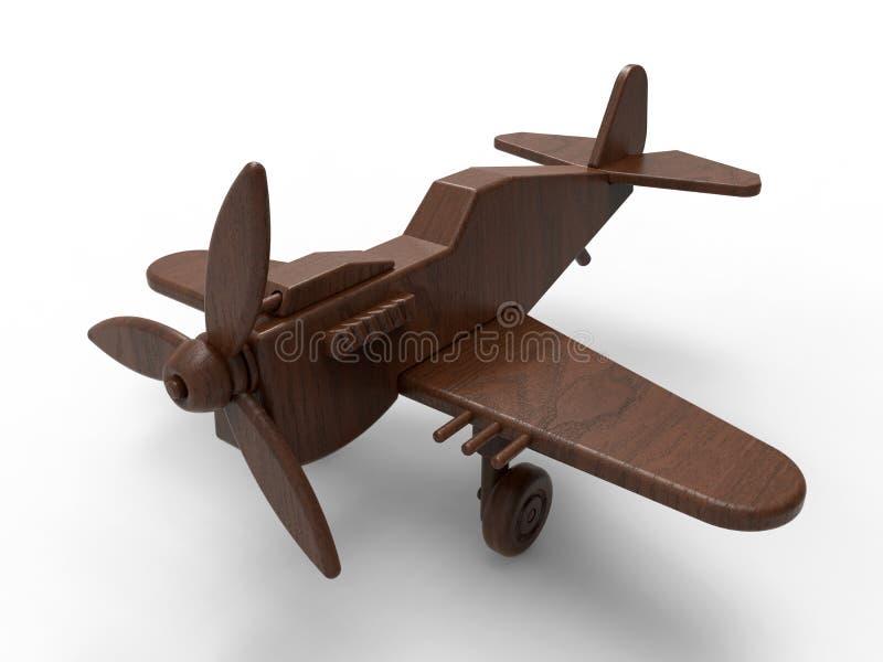 Toy Plane en bois illustration libre de droits