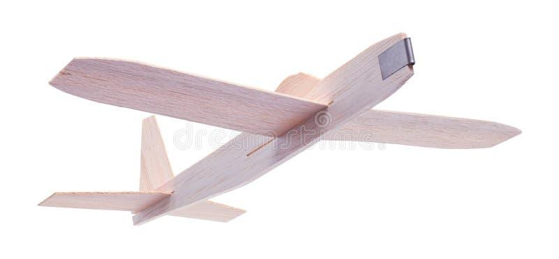 Toy Plane Flying en bois photographie stock libre de droits