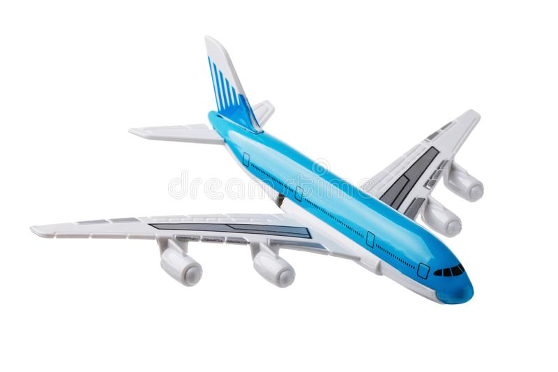 Toy plane made of plastic isolated royalty free stock photos