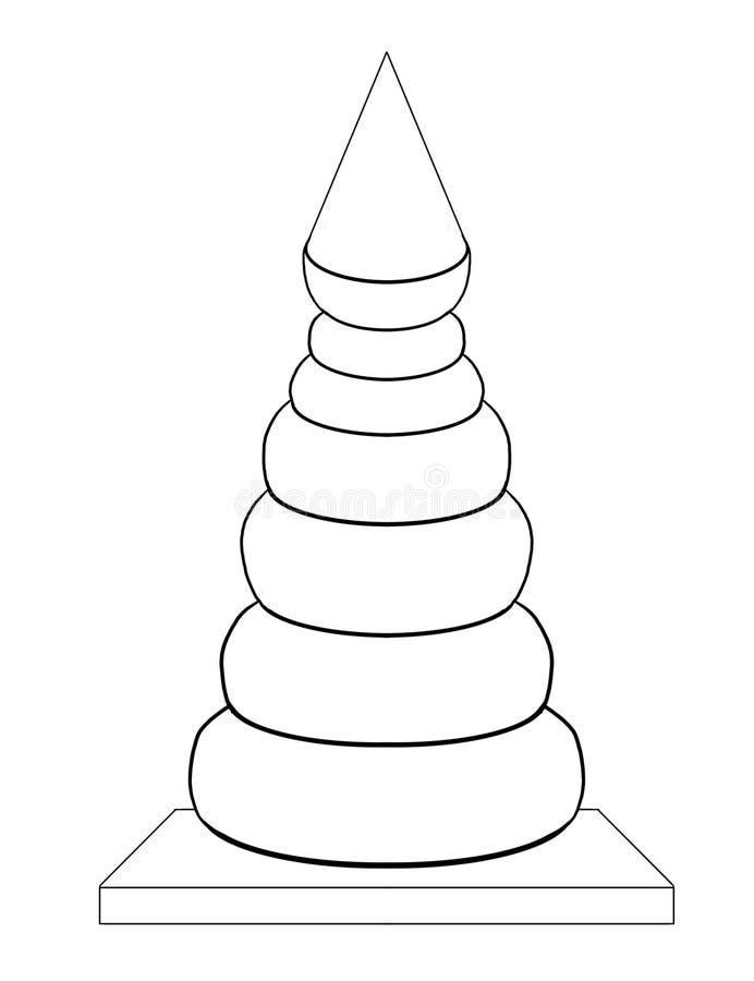 Toy Pyramid ilustración del vector