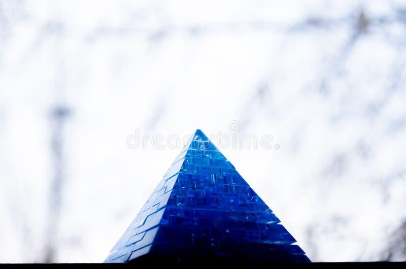 Toy Pyramid Leksaker för 3-D pussel för pyramidpussel bildande Härlig tillbehör royaltyfria foton