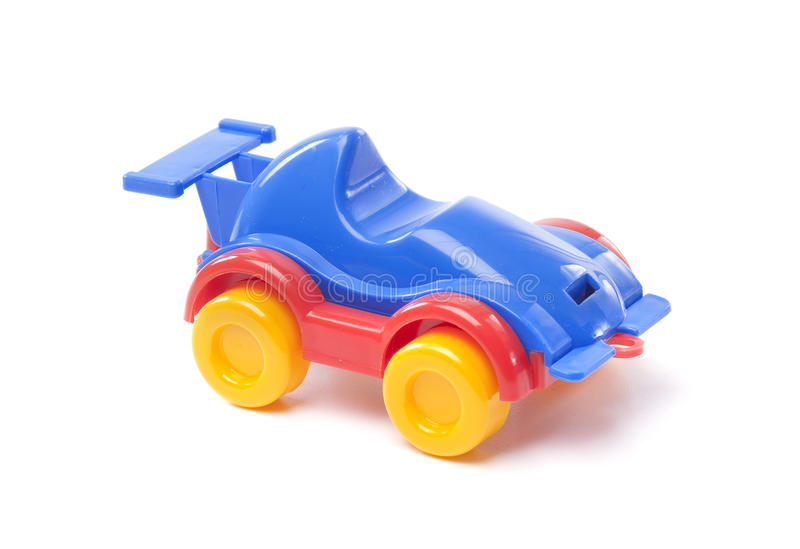 Toy racing car. On white background royalty free stock photography