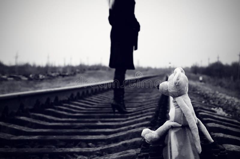 Toy on rails