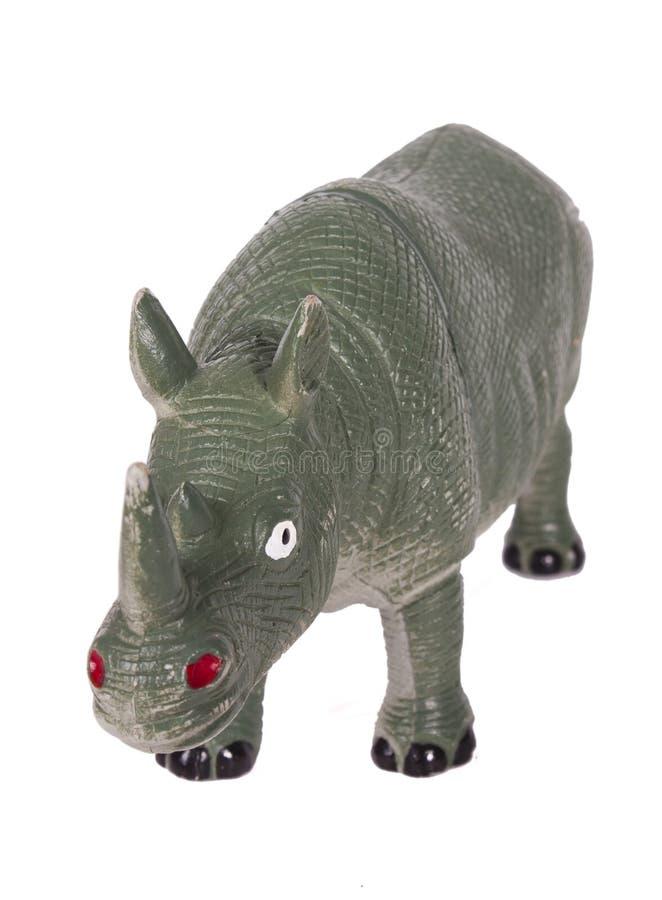 Toy Rhino imagem de stock