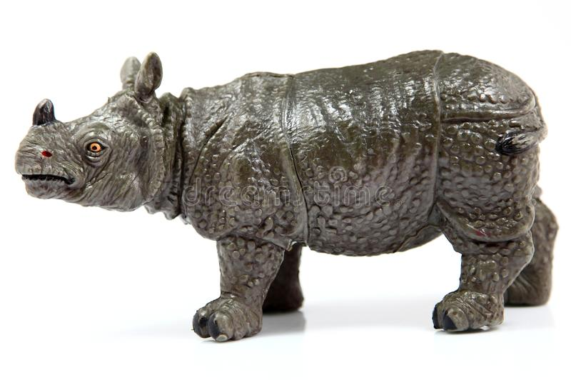 Toy Rhino, unicornis do rinoceronte foto de stock