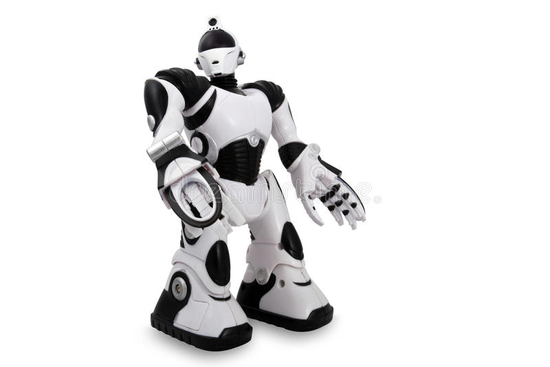 Toy robot stock photo