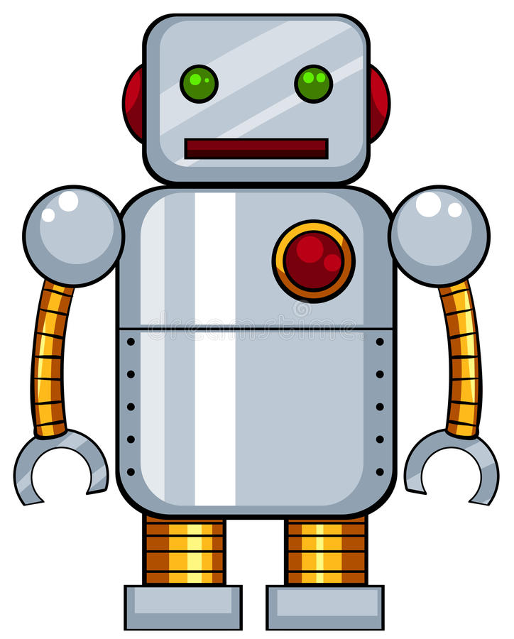 Toy Robot ilustração do vetor