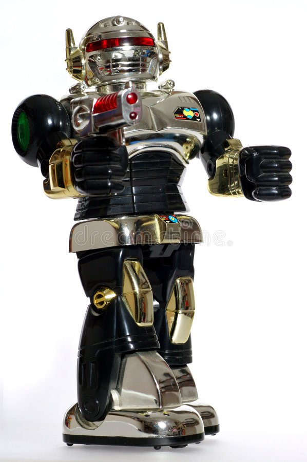 Toy robot with a gun #3 stock image