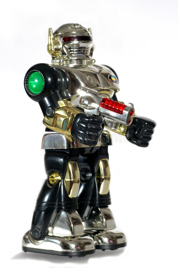 Free Toy Robot With A Gun 2 Stock Images - 1867344