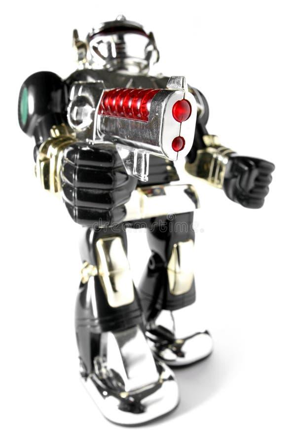 Free Toy Robot With Gun Fisheye Pic Royalty Free Stock Photo - 2117245